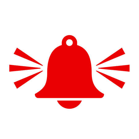 Red alarm bell vector icon