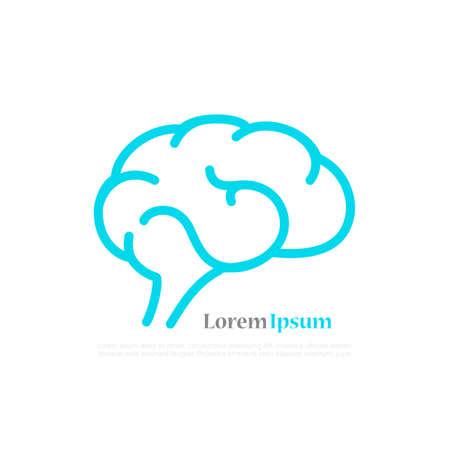 Brain vector posterd design Illustration