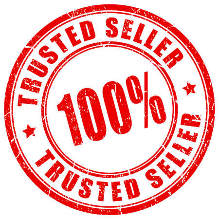 Trusted seller rubber vector stamp