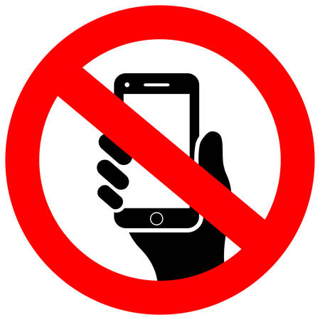 No cell phone vector icon