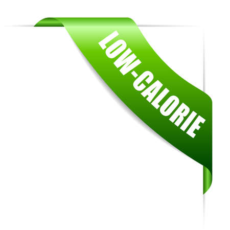 Green low-calorie vector ribbon