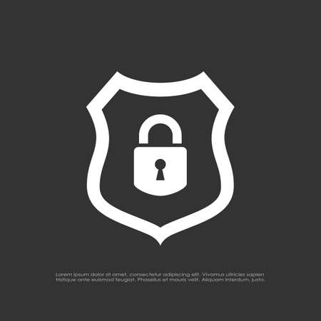 Abstract safety shield vector icon