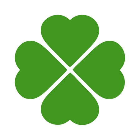 Four leaves shamrock vector icon Illustration