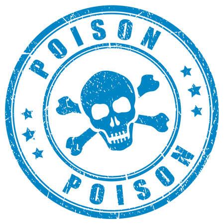 Poison skull vector stamp Illustration