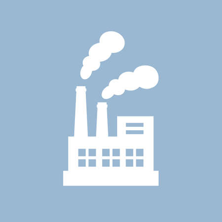 Industrial factory vector pictogram