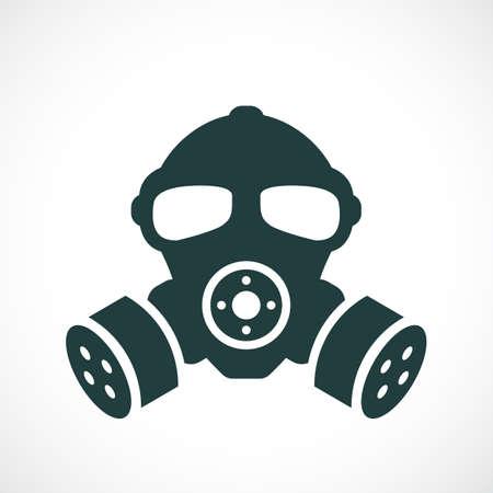 Gas mask vector icon, biohazard concept