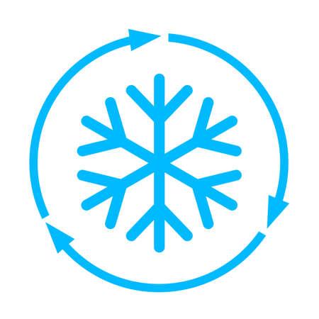 Abstract freezing vector flat icon Stock Illustratie