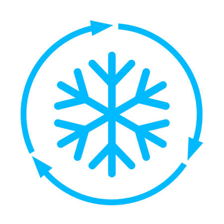 Abstract freezing vector flat icon Illustration