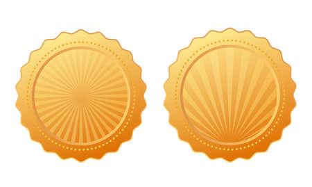 Gold vector seal design