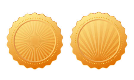 Gold vector seal design