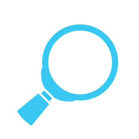 Loupe lens vector icon