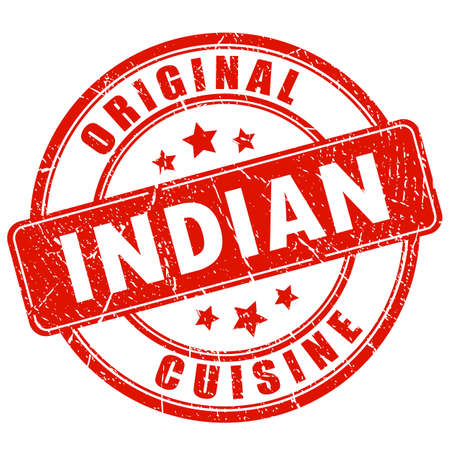 Indian cuisine vector stamp