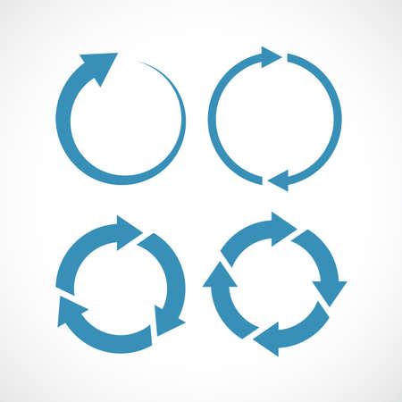 Arrow circulation abstract icon set