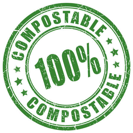 Compostable material vector stamp