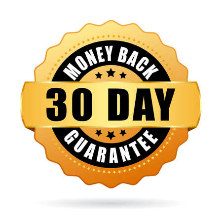 30 days money back guarantee icon Vectores