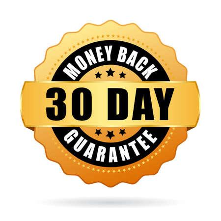 30 days money back guarantee icon Illustration