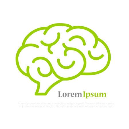 Brain line vector icon