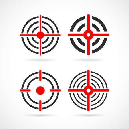 Shooting sight vector icon