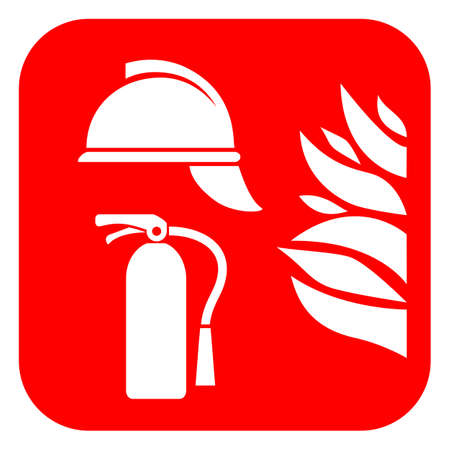 Fire safety abstract vector icon Illustration