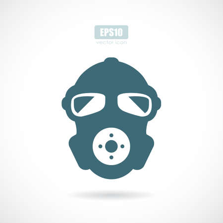 Gas mask vector icon Çizim
