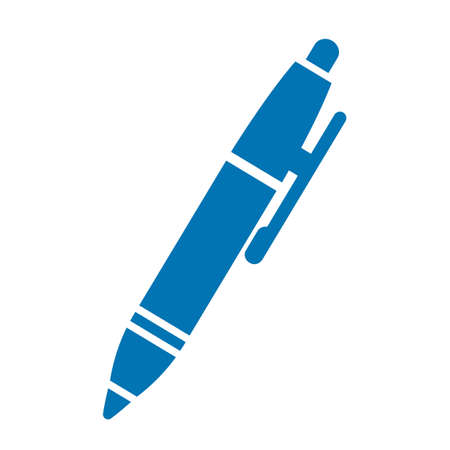Blue pen vector icon