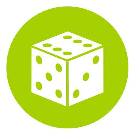 Game dice vector symbol