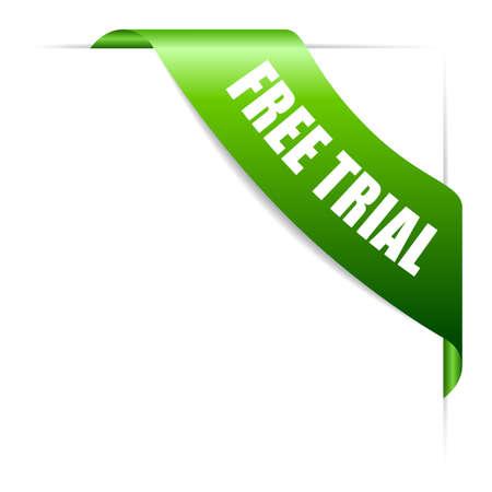 Free trial ribbon vector design element