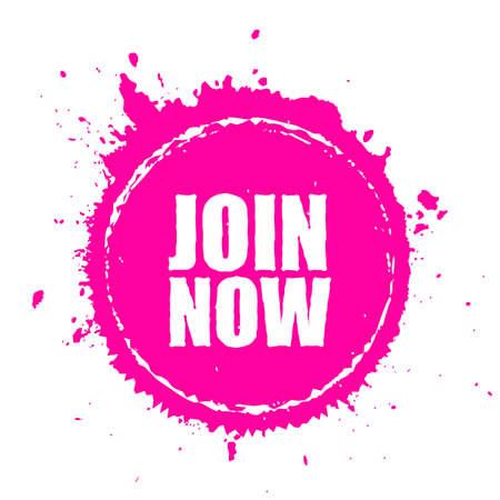 Join now bursting splat icon
