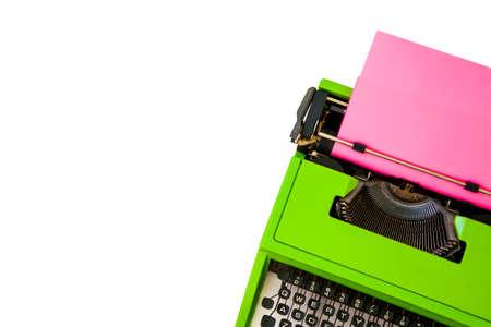 Typewriter and white copyspace, blog header design