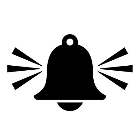 Alarm bell silhouette icon. Illustration