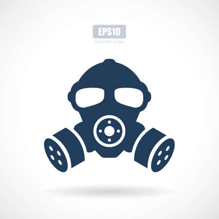 Gas mask silhouette vector sign.