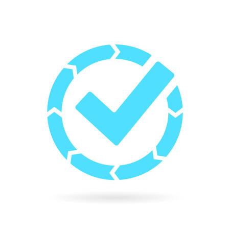 Transfer completed vector icon Illustration