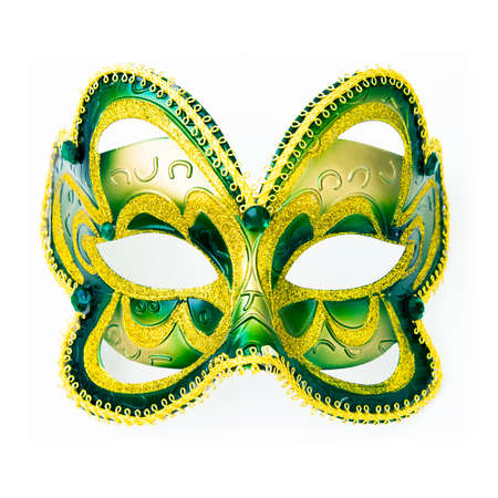Carnaval mask photo isolated on white