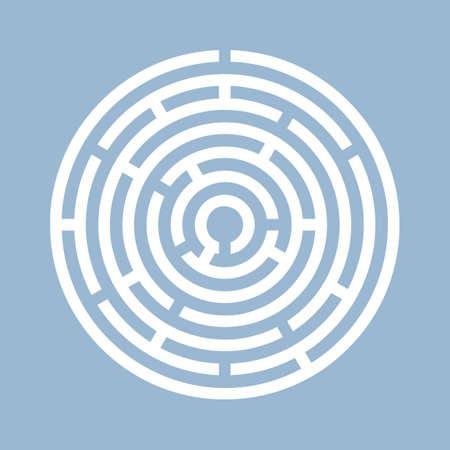 Rundes Labyrinthvektorsymbol