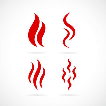 Smoke vector icon set