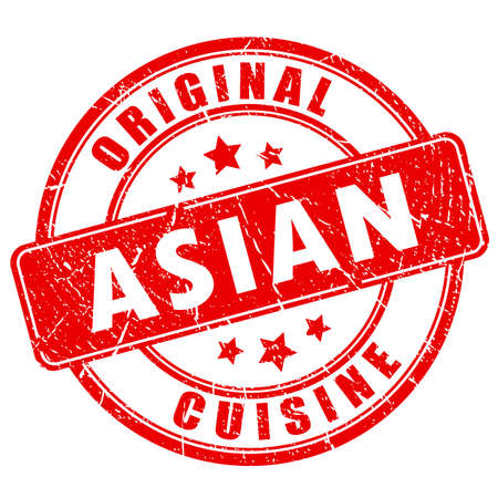 Original Asian cuisine vector stamp isolated on a white background