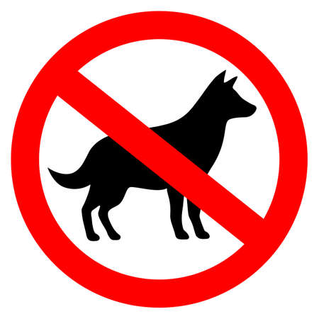 No dog allowed vector sign isolated on a white background