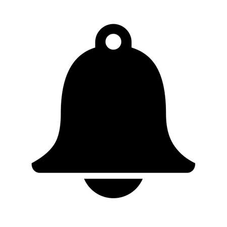 Simple bell vector shape isolated on a white background