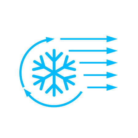 Air conditioning vector icon isolated on a white background Illustration