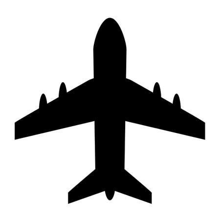 Airplane vector shape isolated on a white background
