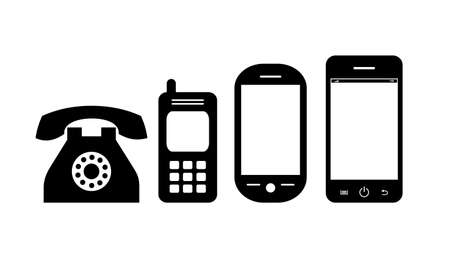 Phone evolution vector icon isolated on a white background