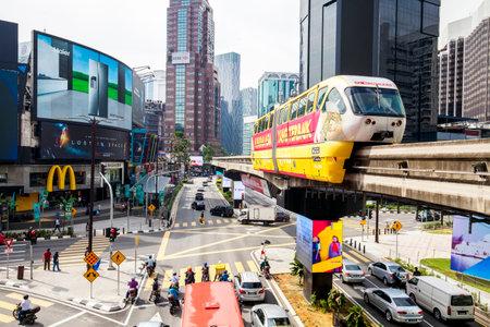 KUALA LUMPUR, MALAYSIA - 19 April 2018: Bukit Bintang shopping and entertainment area