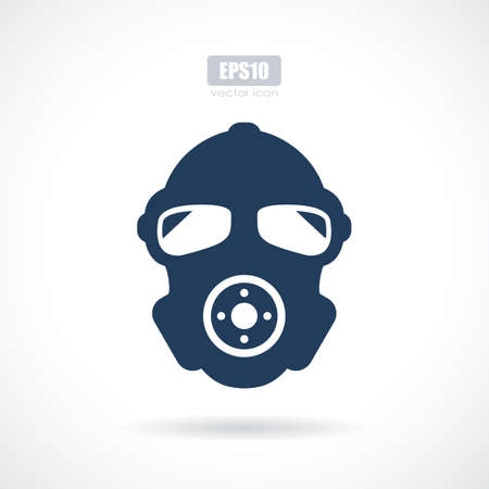 Man in respirator vector icon Illustration