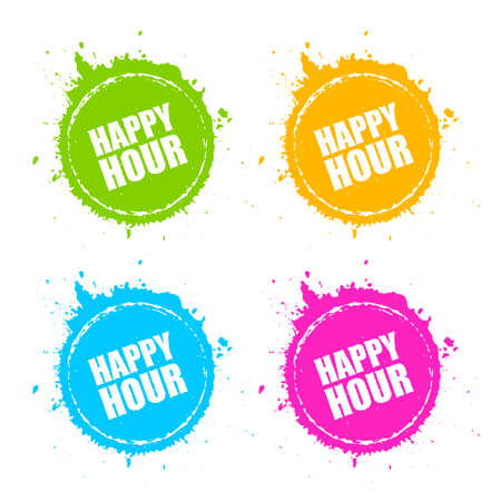 Happy hour round blot icon