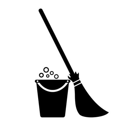 Cleaning home vector icon Illustration