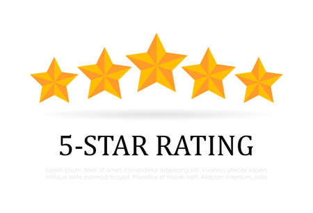 Five star rating vector icon