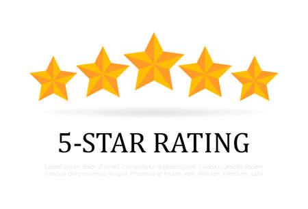Icono de vector de calificación de cinco estrellas Foto de archivo - 103516802