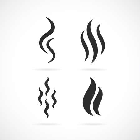 Aroma smell vector icon set Illustration