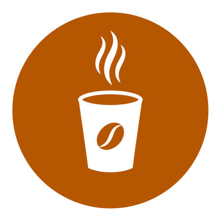 Aromatic coffee cup vector icon