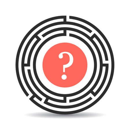 Puzzlement concept vector icon
